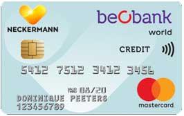 Beobak carte de crédit gratuite belgique