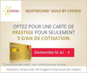 carte mastercard gold cofidis