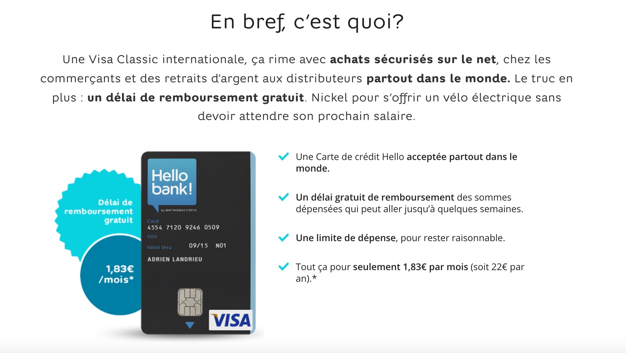 hello bank visa d couvrez la carte de cr dit visa propos par hello. Black Bedroom Furniture Sets. Home Design Ideas