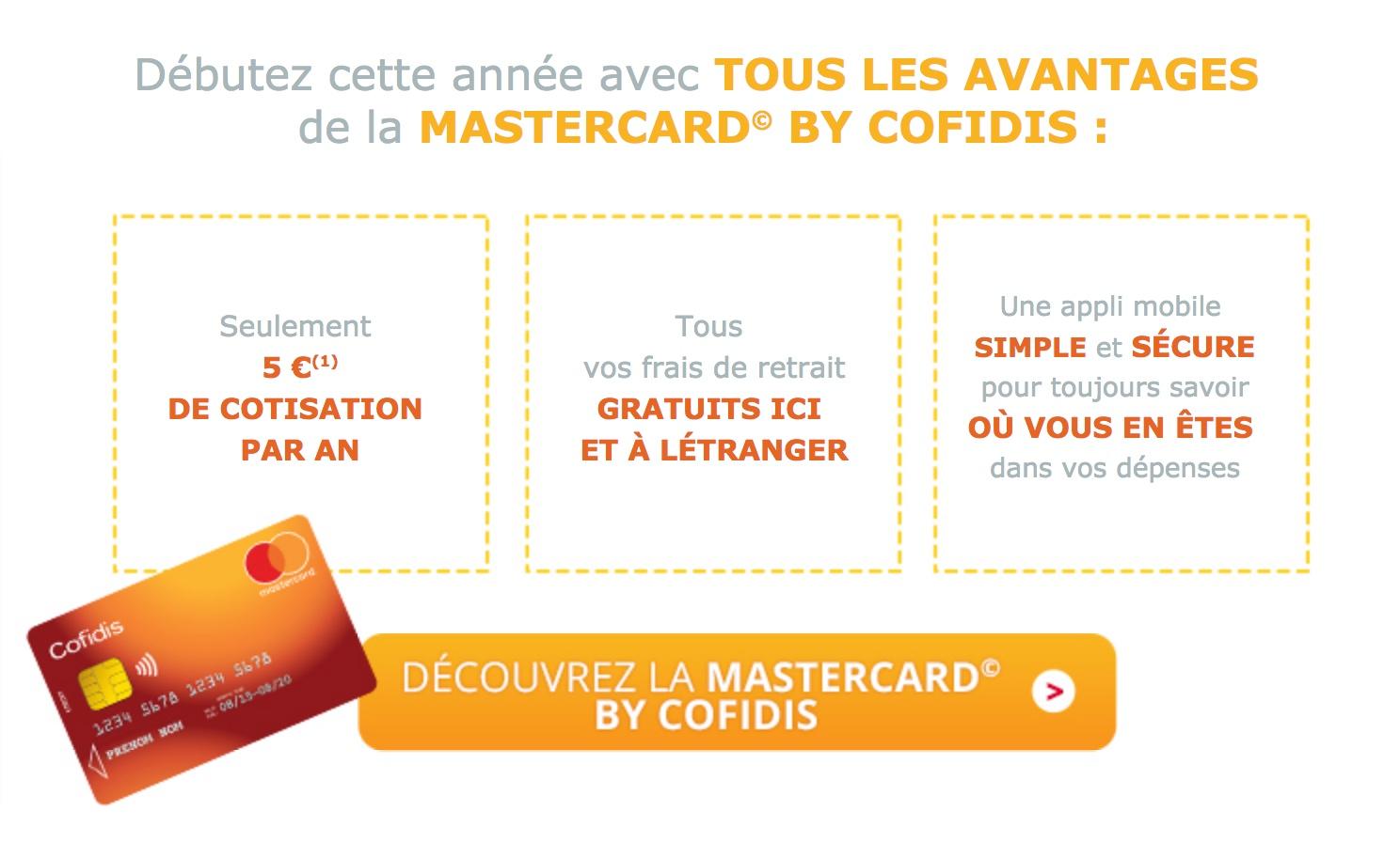 carte mastercard cofidis avis en ligne