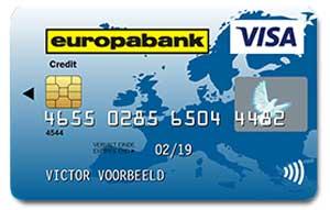 Europabank carte de crédit gratuite belgique