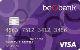 carte bancaire beobank visa